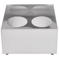 Choice Four Hole Stainless Steel Flatware Cylinder Holder