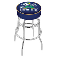 Holland Bar Stool L7C130ND-Lep Notre Dame Double Ring Swivel Bar Stool with 4 inch Padded Seat