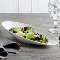 Bon Chef 1100003P Slanted Oval 9 oz. White Porcelain Bowl - 12/Pack