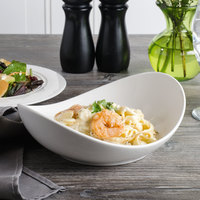 Bon Chef 1200002P Globe 20 oz. White Porcelain Pasta Bowl - 18/Case