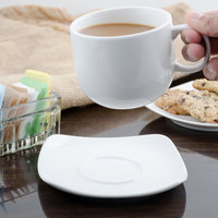 Bon Chef 1200006P Globe 6 inch x 6 inch White Porcelain Saucer - 36/Case
