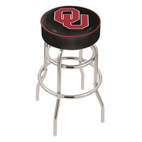 Holland Bar Stool L7C130Oklhma Oklahoma University Double Ring Swivel Bar Stool with 4 inch Padded Seat