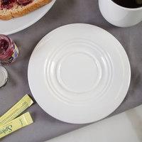 Bon Chef 1000009P Concentrics 6 1/8 inch White Porcelain Saucer - 36/Case