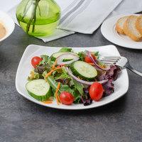 Bon Chef 1200008P Globe 8 inch x 8 inch White Porcelain Salad Plate - 24/Case