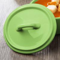 Bon Chef 1600005PLime 5 inch Lime Porcelain Oval Cocotte Lid - 36/Case