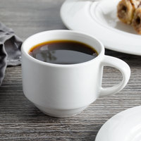 Bon Chef 1000005P Concentrics 4 oz. White Porcelain Espresso Cup - 36/Case