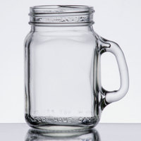 Libbey 97124 4.75 oz. Mini Drinking Jar / Mason Jar with Handle - 12/Case