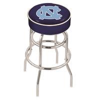 Holland Bar Stool L7C130NorCar University of North Carolina Double Ring Swivel Bar Stool with 4 inch Padded Seat