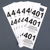 White 3 Part Paper Coat Room Check - 500/Box