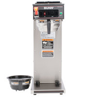 Bunn 23001.0059 CWTF APS-DV Airpot Brewer with Black Plastic Funnel and Stainless Steel Funnel - Dual Voltage
