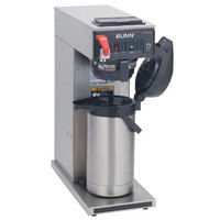 Bunn CWTF APS-DV Airpot Brewer with Black Plastic Funnel and Stainless Steel Funnel - Dual Voltage (Bunn 23001.0059)
