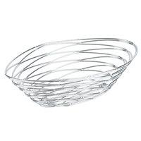 American Metalcraft FRUC16 Chrome Oval Birdnest Basket - 9 inch x 6 inch x 3 inch