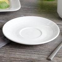 Bon Chef 1300004P Circles 6 inch White Porcelain Saucer - 36/Case