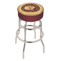 Holland Bar Stool L7C130Indn-HD Indian Motorcycle Double Ring Swivel Bar Stool with 4 inch Padded Seat