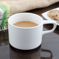 Bon Chef 1100004P Slanted Oval 8 oz. White Porcelain Cup - 36/Case
