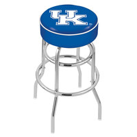 Holland Bar Stool L7C130UKY-UK University of Kentucky Double Ring Swivel Bar Stool with 4 inch Padded Seat