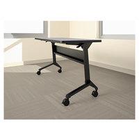 Mayline LF48S5 Flip-n-Go 21 1/4 inch x 46 7/8 inch Black Steel Folding Seminar Table Base