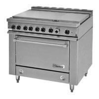 Garland 36ES39 Heavy-Duty Electric Range with 6 Boiler Top Sections and Storage Base - 208V, 3 Phase, 12 kW