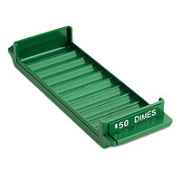 MMF Industries 212081002 Porta-Count Green Plastic Rolled Coin Storage Tray - $50, Dimes
