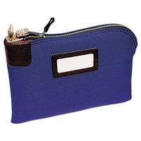 MMF Industries 2330881W08 Cotton Duck Blue 11 inch x 8 1/2 inch Seven-Pin Locking Security Deposit Bag