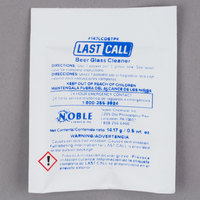 Noble Chemical 0.5 oz. Last Call Manual Powdered Beer Glass Cleaner Packet - 100/Case