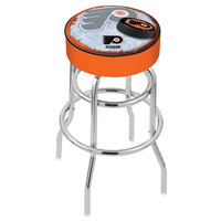 Holland Bar Stool L7C130PhiFly-O-D2 Philadelphia Flyers Double Ring Swivel Bar Stool with 4 inch Padded Seat