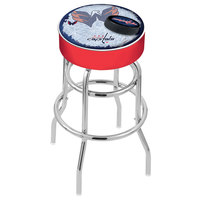 Holland Bar Stool L7C130WshCap-D2 Washington Capitals Double Ring Swivel Bar Stool with 4 inch Padded Seat