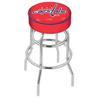 Holland Bar Stool L7C130WshCap Washington Capitals Double Ring Swivel Bar Stool with 4 inch Padded Seat