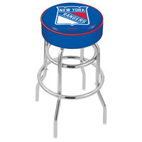 Holland Bar Stool L7C130NYRang New York Rangers Double Ring Swivel Bar Stool with 4 inch Padded Seat