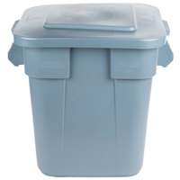 Rubbermaid BRUTE 28 Gallon Square Gray Trash Can and Lid