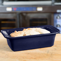 Homer Laughlin 813105 Fiesta Cobalt Blue 5 3/4 inch x 10 3/4 inch x 3 inch Loaf Pan - 3/Case