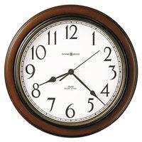 Howard Miller 625417 Talon 15 1/4 inch Cherry Wall Clock with Auto Daylight Savings