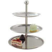 Carlisle 609170 Allegro 3-Tier Stainless Steel Display Stand