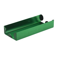 MMF Industries 211011002 Green Aluminum Rolled Coin Storage Tray - $100, Dimes
