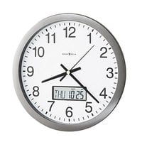 Howard Miller 625195 Chronicle 14 inch Gray Wall Clock with LCD Inset