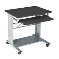 Safco 945ANT Empire Anthracite 29 3/4 inch x 23 1/2 inch Mobile Computer Cart / Workstation