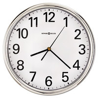 Howard Miller 625561 Hamilton 12 inch Silver Wall Clock