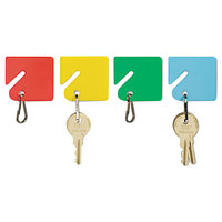 Steelmaster 2013004W47 1 1/2 inch x 1 1/2 inch Assorted Color Plastic Slotted Rack Key Tag - 20/Pack