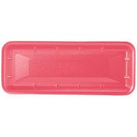 Genpak 1007S (#7S) Rose 14 7/16 inch x 5 3/4 inch x 1 inch Foam Supermarket Tray - 250 / Case