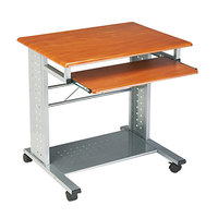 Safco 945MEC Empire Medium Cherry 29 3/4 inch x 23 1/2 inch Mobile Computer Cart / Workstation