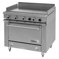 Garland 36ES38 Heavy-Duty Electric Range with Griddle Top and Storage Base - 208V, 1 Phase, 15 kW