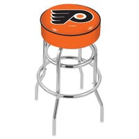 Holland Bar Stool L7C130PhiFly-O Philadelphia Flyers Double Ring Swivel Bar Stool with 4 inch Padded Seat
