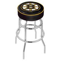 Holland Bar Stool L7C130BosBru Boston Bruins Double Ring Swivel Bar Stool with 4 inch Padded Seat