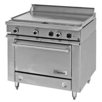 Garland 36ES36 Heavy-Duty Electric Range with 2 All Purpose Top Sections and Storage Base - 208V, 1 Phase, 12 kW