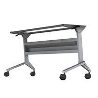 Mayline LF48SLV Flip-n-Go 21 1/4 inch x 46 /8 inch Silver Steel Folding Seminar Table Base