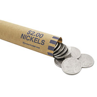 MMF Industries 2160640B08 Preformed Blue Coin Wrapper - $2, Nickels - 1000/Case