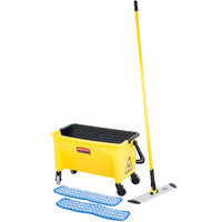Rubbermaid HYGEN 18 inch Microfiber Wet Mop Kit with Mop, Pads, and Bucket