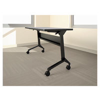 Mayline LF72S5 Flip-n-Go 21 1/4 inch x 70 1/2 inch Black Steel Folding Seminar Table Base