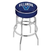 Holland Bar Stool L7C130Vilnva Villanova University Double Ring Swivel Bar Stool with 4 inch Padded Seat