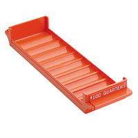 MMF Industries 212082516 Porta-Count Orange Plastic Rolled Coin Storage Tray - $100, Quarters